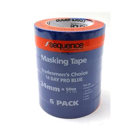 Sequence 14 Day Blue Masking Tape 6 pack 24MM x 50M