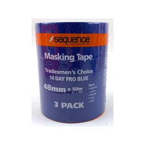 Sequence 14 Day Blue Masking Tape 3 pack 48MM x 50M
