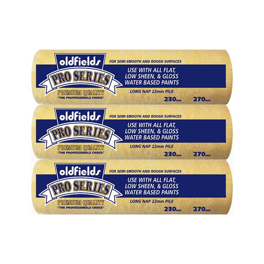 Oldfields Pro-Series Long Nap 22mm x 270mm 3 Pack