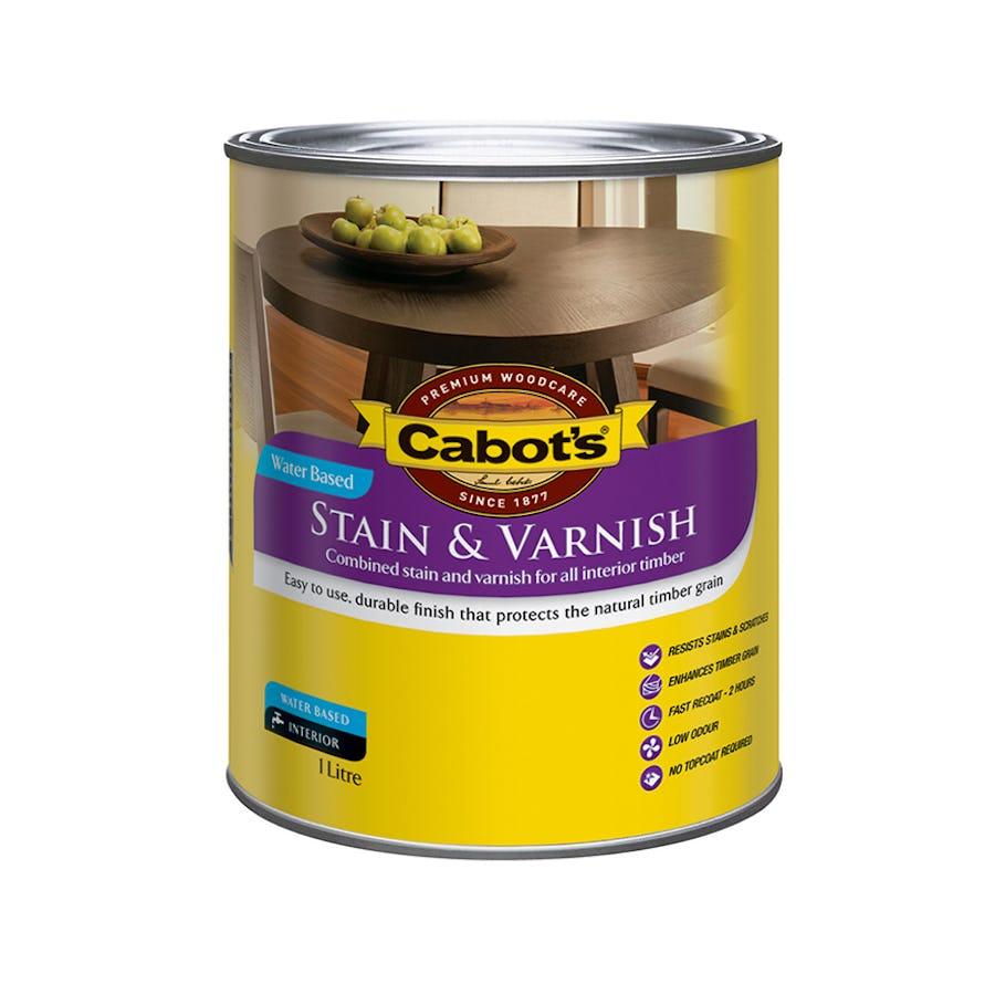 Cabot's Stain & Varnish Water Base Satin Tint Base 4L