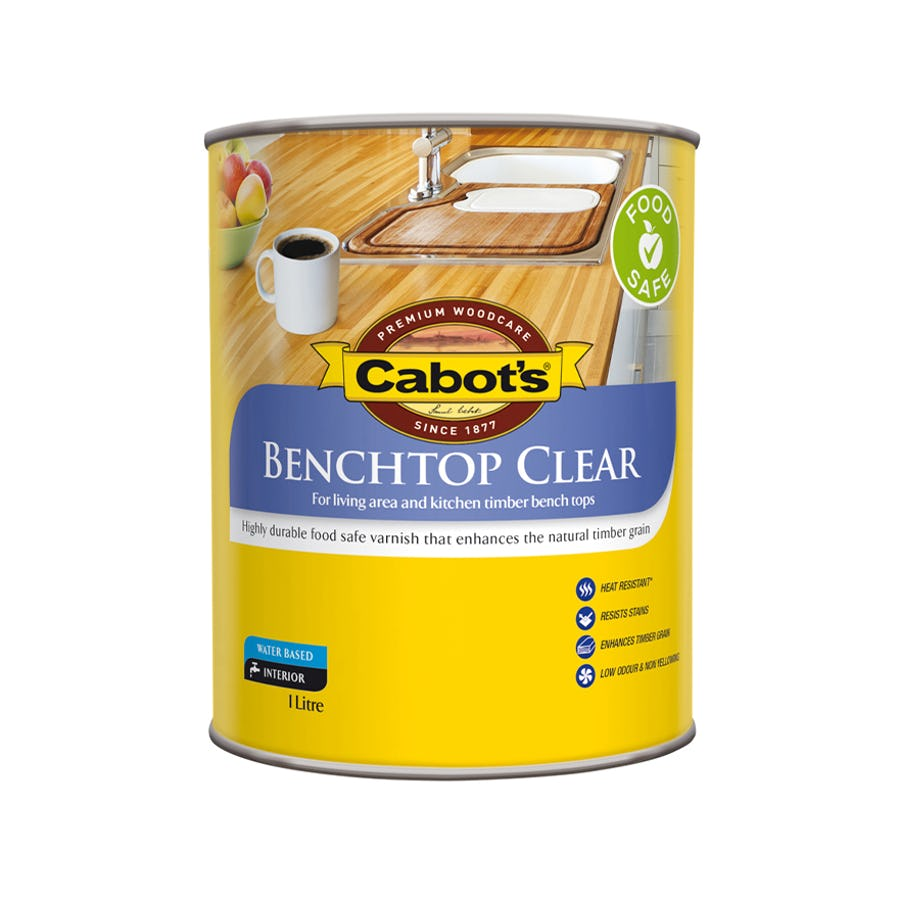 Cabot's Benchtop Clear Timber Finish Gloss 1L