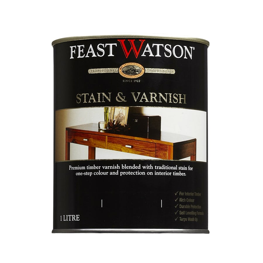 Feast Watson Stain & Varnish Gloss Rich Jarrah 250ML