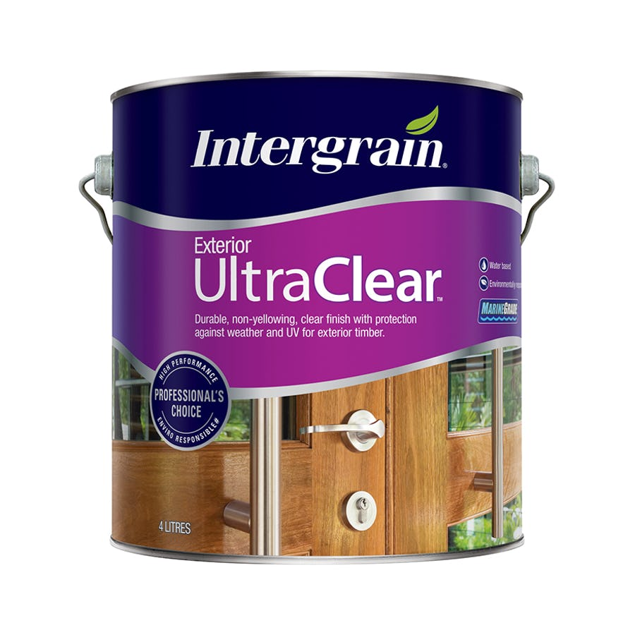Intergrain UltraClear Exterior Timber Finish Gloss 4L