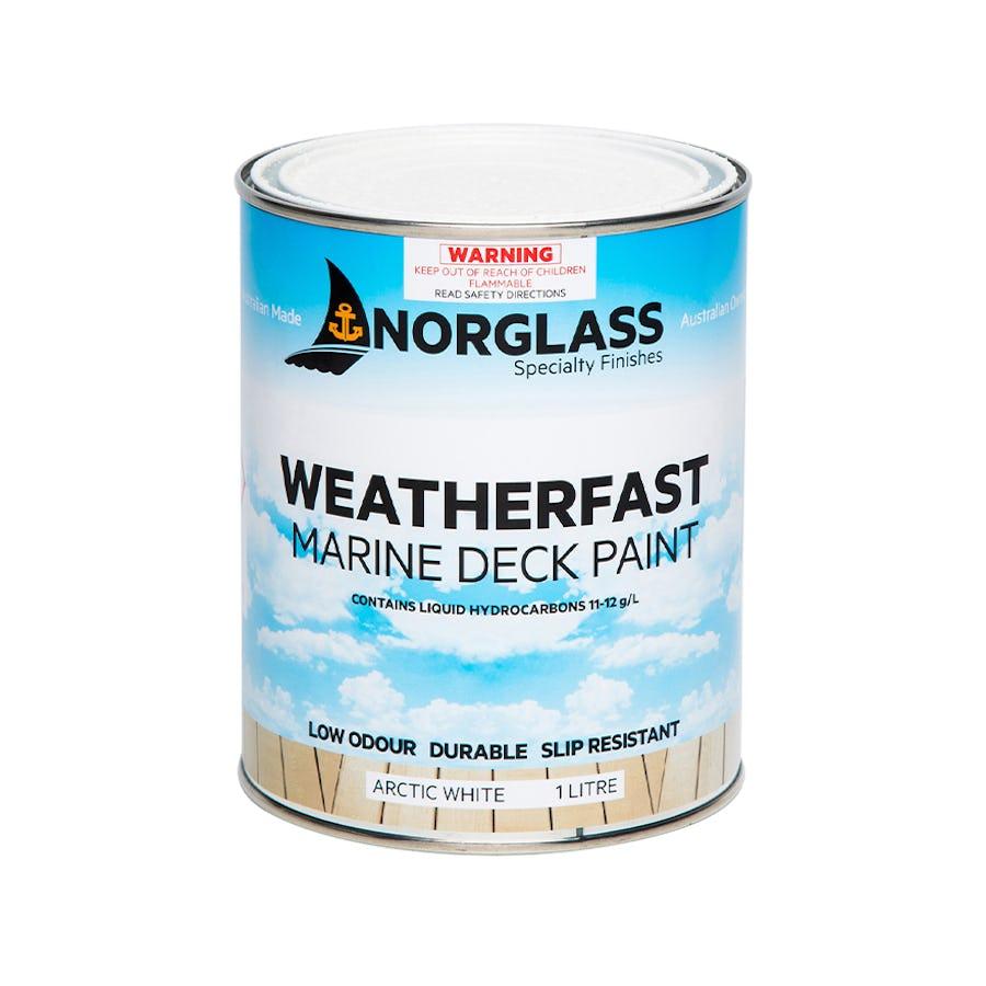 Norglass Weatherfast Deck Paint Arctic White 4L