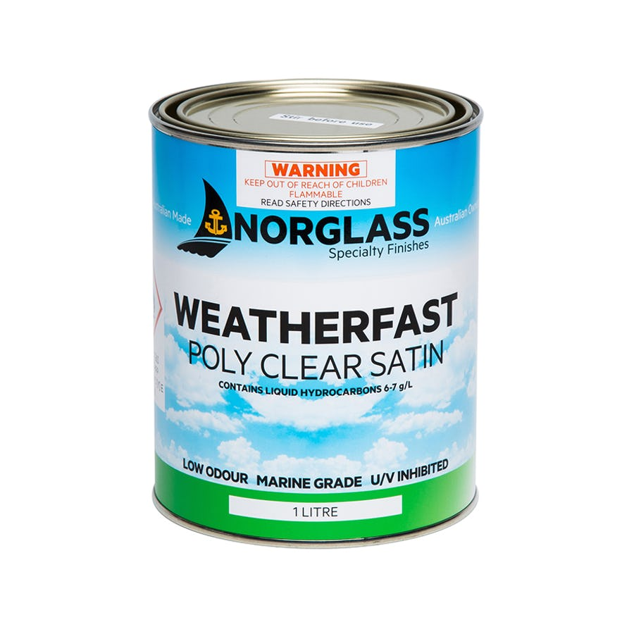 Norglass Weatherfast Poly Clear Satin 1L