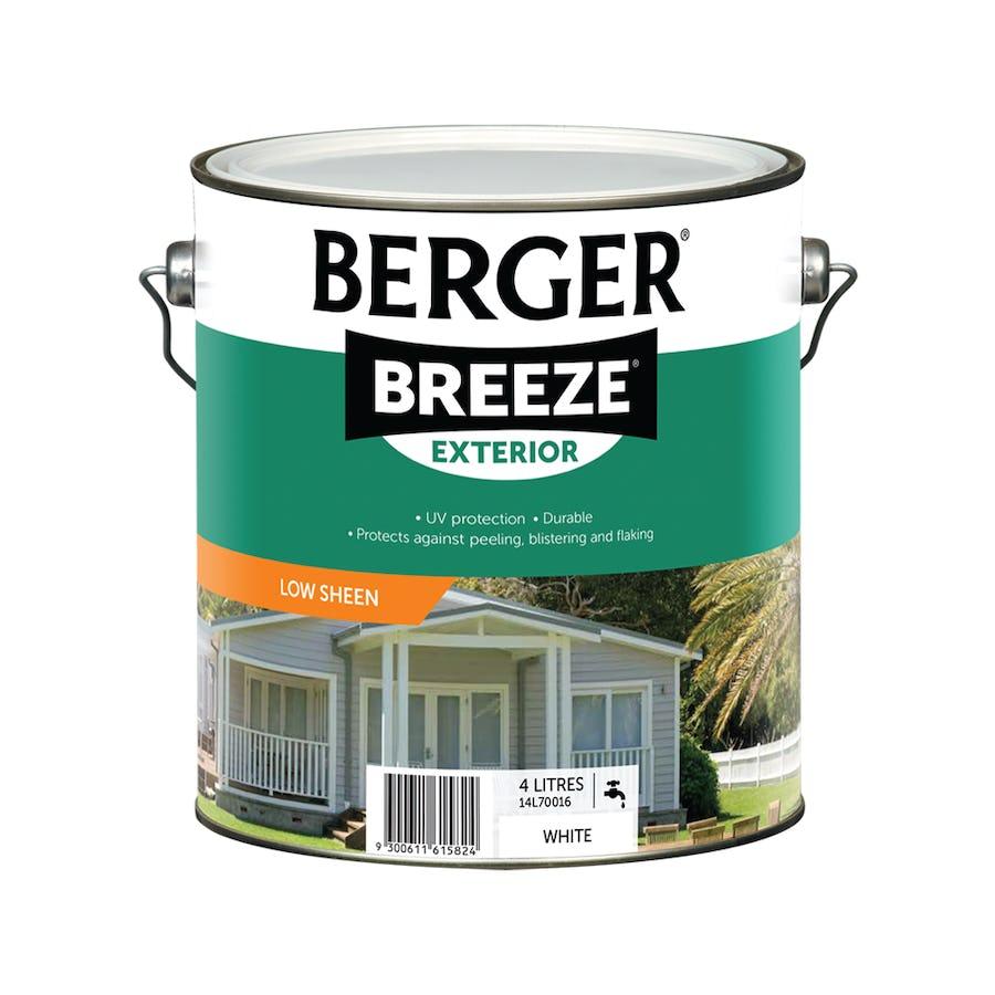 Berger Breeze Exterior Low Sheen White 4L