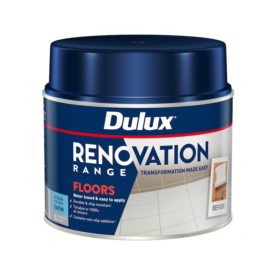 Dulux Renovation Range Floors Satin Vivid White 1L