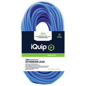 iQuip Extension Lead 20m 15Amp with10Amp Illuminated Plugs